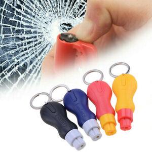 UK Emergency Safety Escape Hammer Car Window Glass Breaker Seat Belt Cutter Blue
