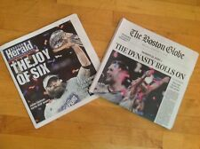 New England Patriots Super Bowl LIII Champion Set Boston  Globe Herald 2/4/2019
