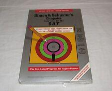Vintage Apple II IIe IIc IIgs Software Simon & Schusters SAT Study Guide Sealed