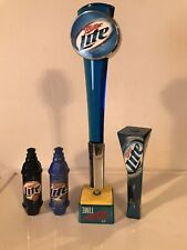 Four Miller Lite Beer Tap Handles All Four In Very Nice Condition