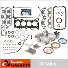 Fit 96-00 Honda Civic Full Gasket Pistons Bearings Rings Set D16Y7 D16Y8 D16Y5