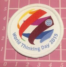 Official World Thinking Day 2015 Badge/ Patch. Guides Scouts