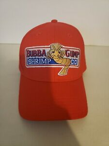 Bubba Gump Shrimp Co Company Forest Gump Movie Red Baseball Cap Style Hat
