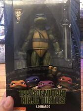 "LEONARDO NECA Ninja Turtles 1990 Movie GameStop Exclusive 7"" AUTHENTIC TMNT Leo"