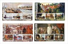 2017 SISLEY VAN DYCK WATTEAU  GUILLAUMIN 12  ART PAINTINGS  MNH UNPERFORATED