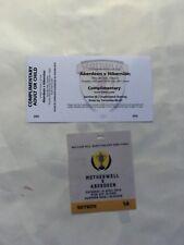 Scottish Youth Cup Final Aberdeen v Hibs April 2018 V I P Sky Ticket + Ticket
