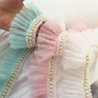 Lovely 2 color  ruffled lace trim price by the yard //select color//