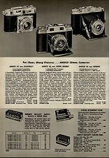 1955 PAPER AD 6 PG Ansco Videon Iloca Stereo Camera 35 MM Karomat Super Regent