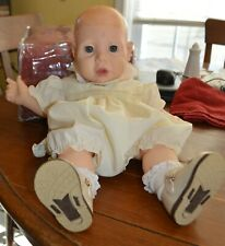 "Vtg 1984 Hasbro J. TURNER 20"" REAL BABY Doll Weighted Big Eyes Rooted Eyelashes"