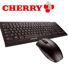 Cherry B.UNLIMITED AES Wireless Tastatur und Maus Set kabellos 2.4 GHz black DE