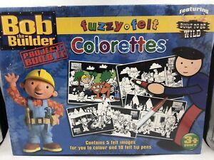 Bob The Builder Fuzzy Felt Colorettes 5 Felt Images To Colour New
