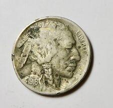 1916 - Indian Head or Buffalo Nickel - Very Sharp Date!
