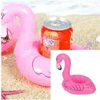 3Pcs/Set Pink Inflatable Pool Tropical Flamingo Floating Coasters Party Favors C