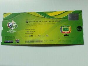 Ticket WM WC 2006 Deutschland SCHWEIZ - UKRAINE Match 54 Köln 26.6.2006