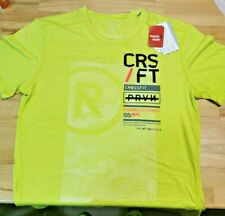Reebok Crossfit Tri Blend T-Shirt Mens Size Large - Lime/Yellow - New With Tags