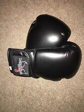 NWOT I Love Kick Boxing  Black Boxing Gloves - 12oz