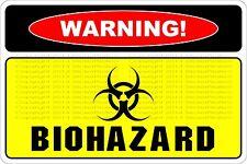 "*Aluminum* Warning Biohazard 8""x12"" Metal Novelty Sign  NS 558"