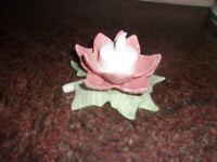 Lenox Holiday Christmas Poinsettia Votive Candle Holder I Box