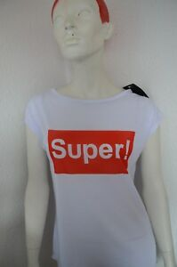 "Damen T-Shirt mit Print-Druck "" SUPER """