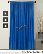 Saaria 100% Thermal Blackout Velvet Curtains Drapes 8'W x 10'H Panel Royal Blue