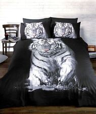 Animal Theme - White Tiger Photograph Single Duvet / Quilt Cover Bedding Set