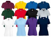 Fruit Of The Loom Ladies Lady-Fit 65/35 Cadat collar Polo Shirts T-shirt