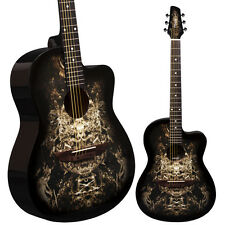 Lindo 933C Alien Black Acoustic Guitar & Gigbag | Free Express Delivery Sci-Fi