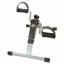 Under Desk Bike Pedal Exerciser with Calorie Tracker and Adjustable Resistanc...