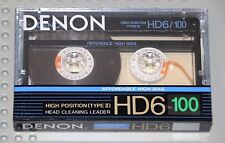DENON HD-6  100  VS. III   BLANK CASSETTE TAPE  (1)   (SEALED)