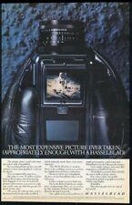 1983 Hasselblad 500 WL/M moon camera astronaut photo BIG vintage print ad