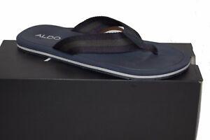 Aldo Blue Green Stripes Men's Casual Flip Flops Sandal Shoes Size US 13 M EU 46