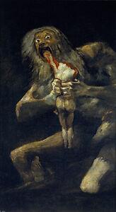 Francisco de Goya - Saturno devorando a su hijo Monster Vintage Fine Art Print