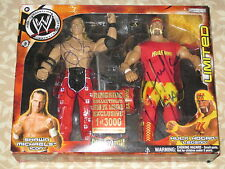 WWE Shawn Michaels Hulk Hogan Signed Classic Superstars Action Figure 2-pack