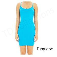 CAMI MINI DRESS BodyCon Extra Long camisole tank top slip seamless stretch