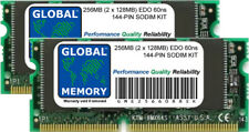 256MB (2 x 128MB) EDO 60ns 144-PIN SODIMM MEMORY RAM KIT FOR LAPTOPS/NOTEBOOKS