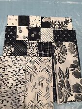 Black And White Bali Lot of Hoffman Fabrics Cotton Batik and Woodblock