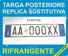 TARGA AUTO REPLICA SOSTITUTIVA  POSTERIORE IN ALLUMINIO ART. 102  D.LGS 285/92