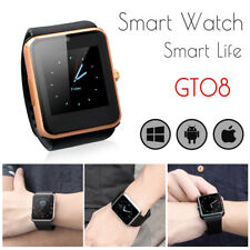 GT08 Touch Screen Bluetooth Smart Watch Phone Mate For Android IOS iPhone gold