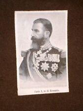 Carlo I Re di Romania Karl Eitel Friedrich Zephyrinus Ludwig von Hohenzollern