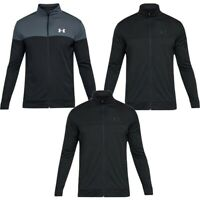 Under Armour UA Mens Full Zip Tracksuit Sportstyle Pique Jacket Track Top Pocket