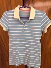 GIORDANO Polo Shirt - Light Blue stripes (Small)