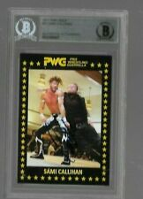 2017 WRESTLING PWG BOLA #21 SAMI CALLIHAN AUTO CARD BECKETT AUTHENTIC TNA