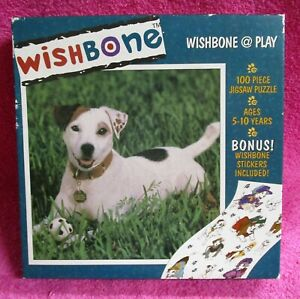 Ceaco Wishbone At Play Jack Russell Terrier Dog 100 Piece Jigsaw Puzzle 1997
