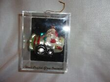 """Christmas Ornament Target Brand Santa in plane airplane hand crafted glass 3.75"""""""