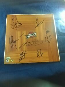 2019 Cleveland Cavaliers Signed Floorboard w/ 8 Signatures Lebron James!