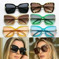 Retro Vintage Oversized Square Frame Cat Eye Women Fashion Sunglasses