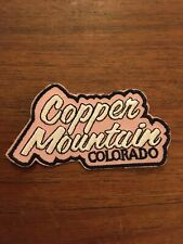 Vintage Copper Mountain CO Ski Resort Sk Embroidered Patch 1980s NOS