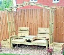 Arch Pergola With Love Bench And Large Planters,Extra treated