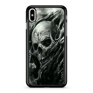 Painted Magnificent Spooky Scary Gloomy Spectacular Skull 2D Phone Case Cover