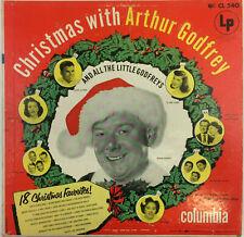 "Christmas with Arthur Godfrey Eighteen Christmas Favorites LP CL 540 12"" VG 1953"